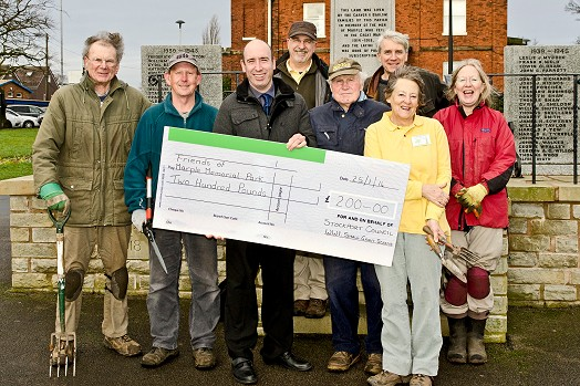 2014 Grant Cheque presented by Cllr Iain Roberts